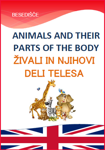 ANIMALS AND THEIR PARTS OF THE BODY – Živali in njihovi deli telesa